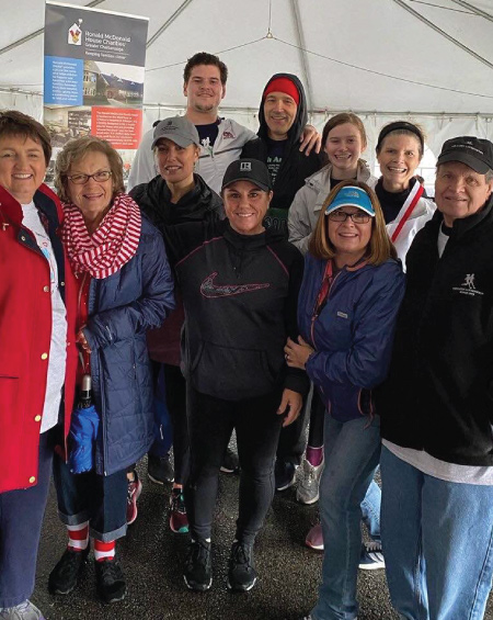 family of karen lawrence at run 4 kids with runners