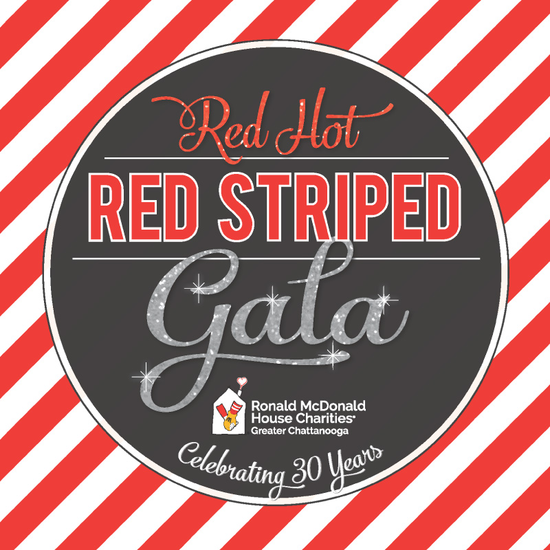 red hot red striped gala celebrating 30 years benefiting the ronald mcdonald house charities of greater chattanooga