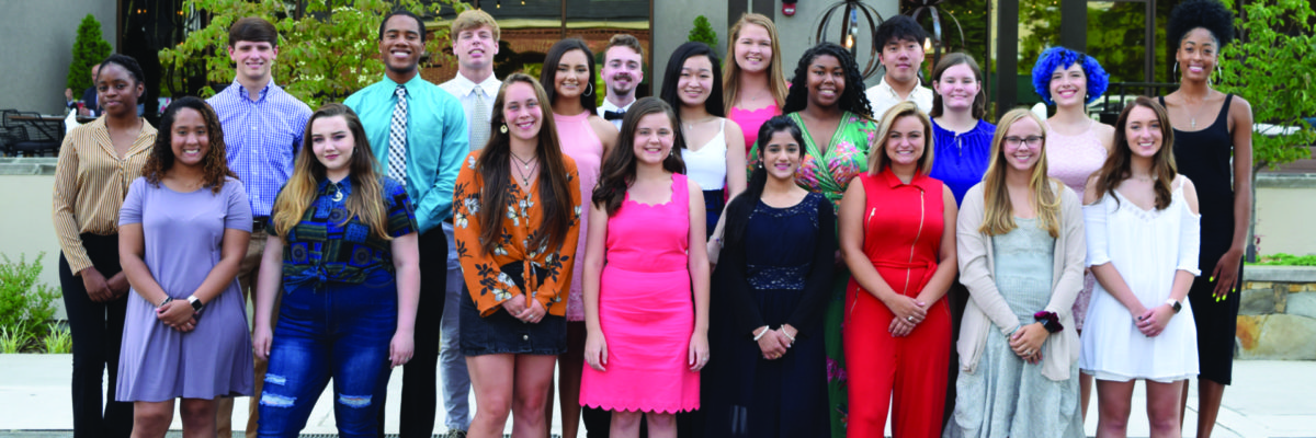 group of high school students and recipients of rmhc scholarship program